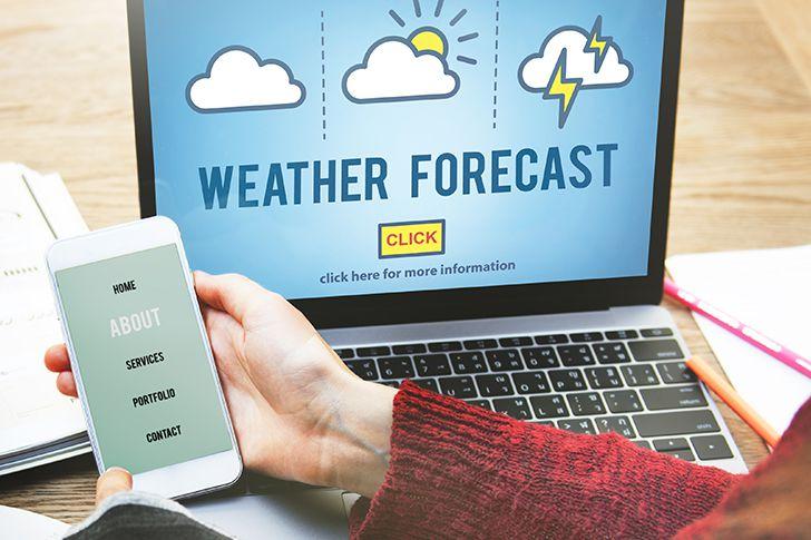 天気予報をしっかりとチェックする