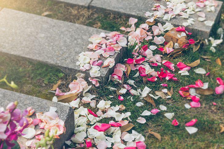 花の道を作る