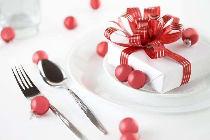 プレゼントはデザートと同じタイミングで
