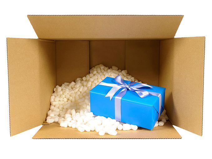 家にプレゼントを届けてもらう
