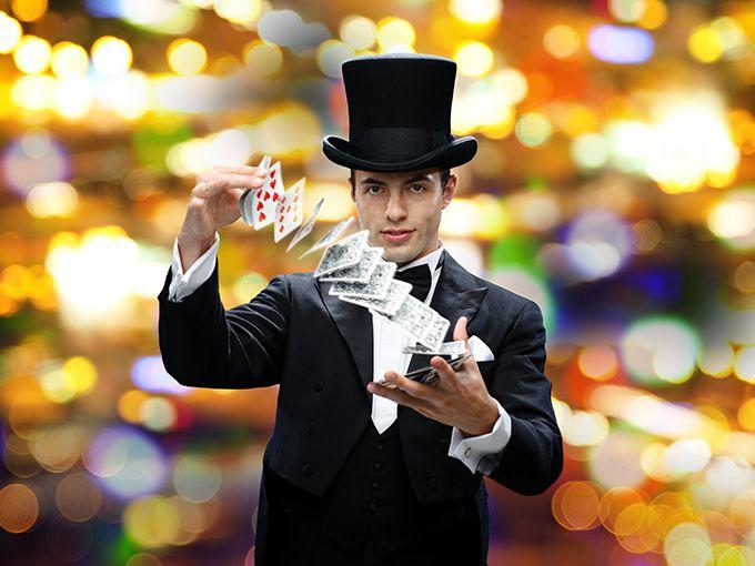 マジックショーをする