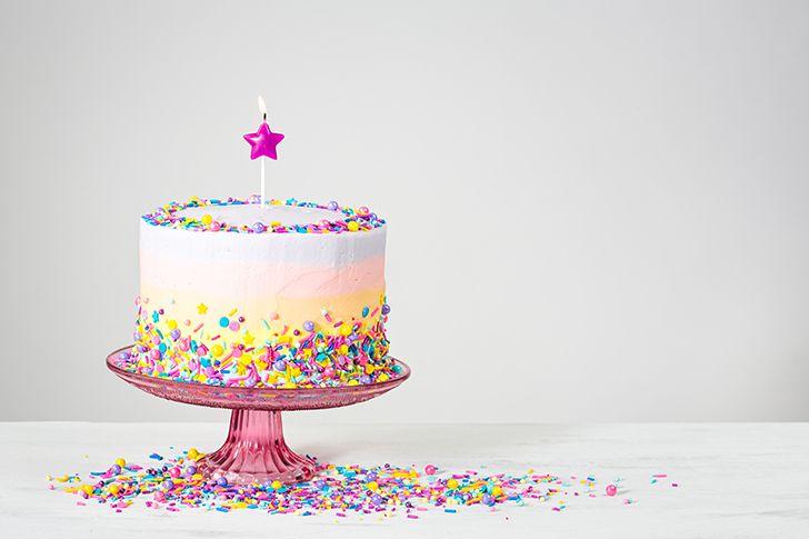 ケーキの中に指輪