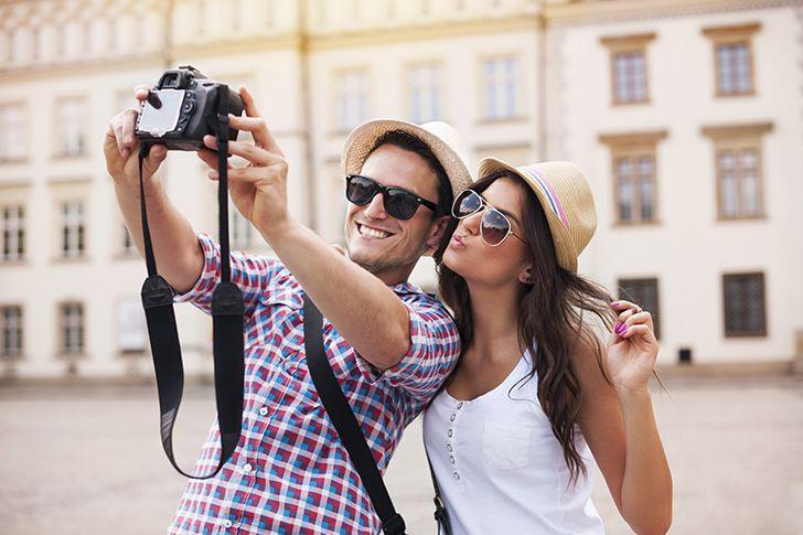 連写で写真を撮りながらプロポーズ