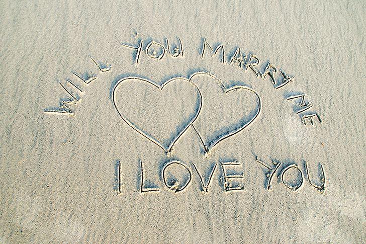 客室から見る砂に書いたプロポーズ