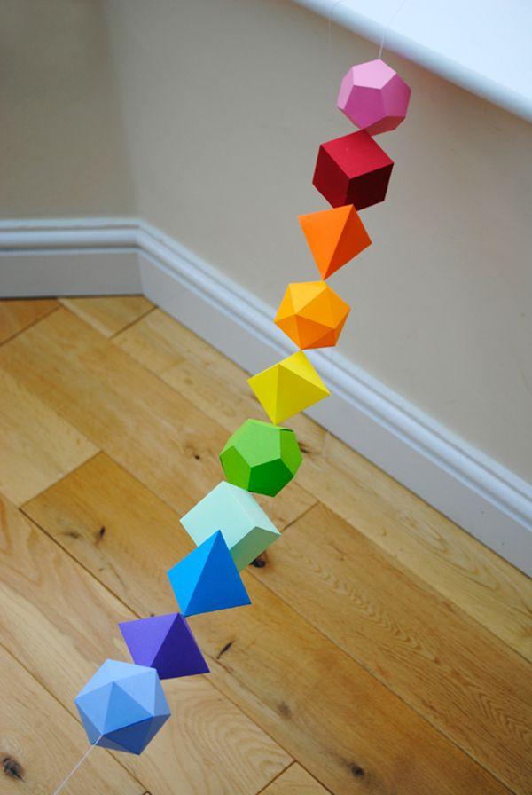 子供の誕生日の飾り付けは折り紙で手作り ...